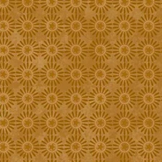 Gold Spoke Stars Buggy Barn Basics by Henry Glass Fabrics by the Yard 8068 32