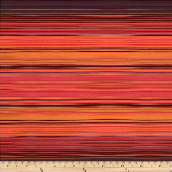Siren Song Varigated Stripe In Orange and Red Sunset, Fabric by the Yard Michael Miller Fabrics 5377 suns