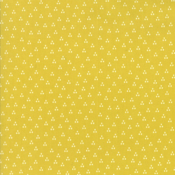 Desert Bloom Modern Design Triangle Dots on Yellow Green by Sherri and Chelsi For Moda Fabrics by The Yard 37525 19