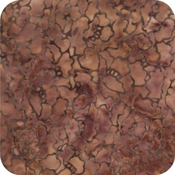 Peach Brown Java Malam Batik by Jinny Beyer for RJR Fabrics, Fabric by the Yard 1766 5