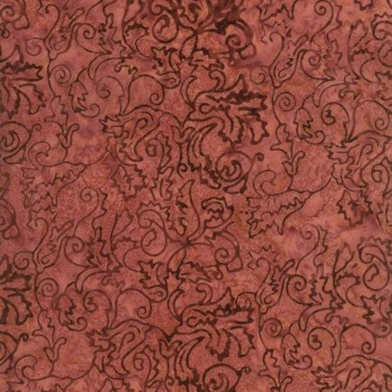 Vanilla Cherry Swirl Java Malam Batik by Jinny Beyer for RJR Fabrics, Fabric by the Yard 1767 3