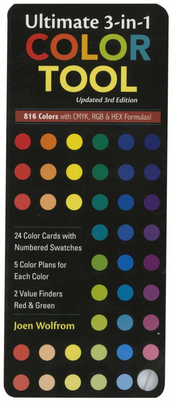 Ultimate 3 In 1 Color Tool From Joen Wolfrom and C & T Publishing. Helpful Tool For Quilters To Use For Fabric Color Scheme Options