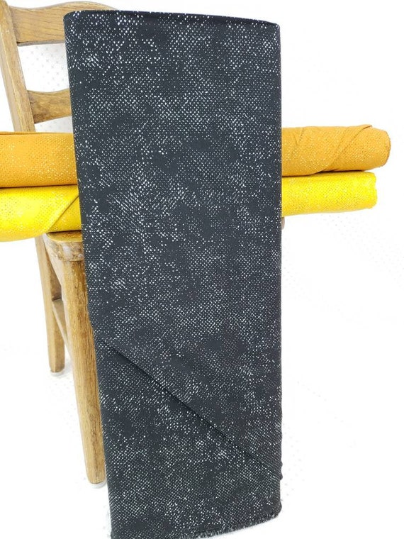 Black Ink Spotted Solid From Quotation Moda Fabrics, Fabric Designer Zen Chic, Textured Background Quilt Fabric by the Yard 1660 134