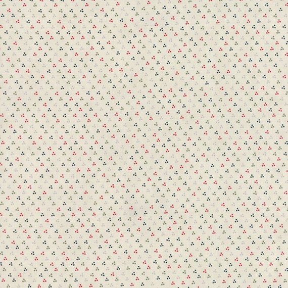 Starlight Dots On Cream by 3 Sisters For Moda, Features Little Triangle Group of Dot For Rustic Holiday Quilt Fabric By The Yard 44117 12