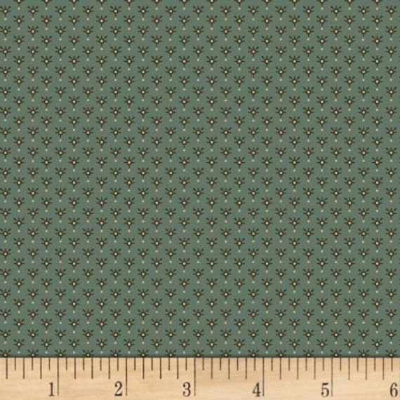 Small Sparkle Star Design on Light Teal Kim Diehl Helping Hands Fabric by the Yard 6880 11
