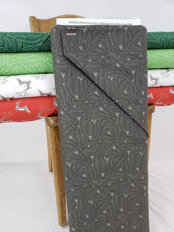 Charcoal Grey Spruce Branches and Berries, Northern Light Christmas by Annie Brady for Moda Fabrics, Quilt Fabric by the Yard 16734 14