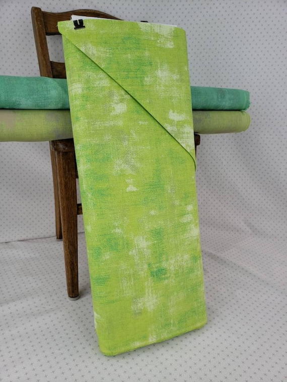 Key Lime Green Grunge Basics, Modern Textured Brush Stroke Tonal Blender, Moda Quilt Fabric by the Yard, 30150 303