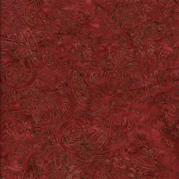 Cherry Paisley Fire Malam Batik by Jinny Beyer for RJR Fabrics, Fabric by the Yard 2144 6