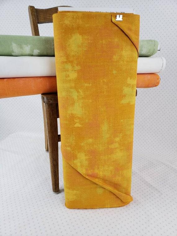 Yellow Gold Grunge Basics Butterscotch, Modern Textured Moda Quilt Fabric by the Yard, Tonal Blender For Quilt Backgrounds, 30150 421