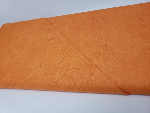 Vintage Orange Print, Scattered Dark Splotches For an Aged Looking Design Solid From Washington Street Studio 281 O