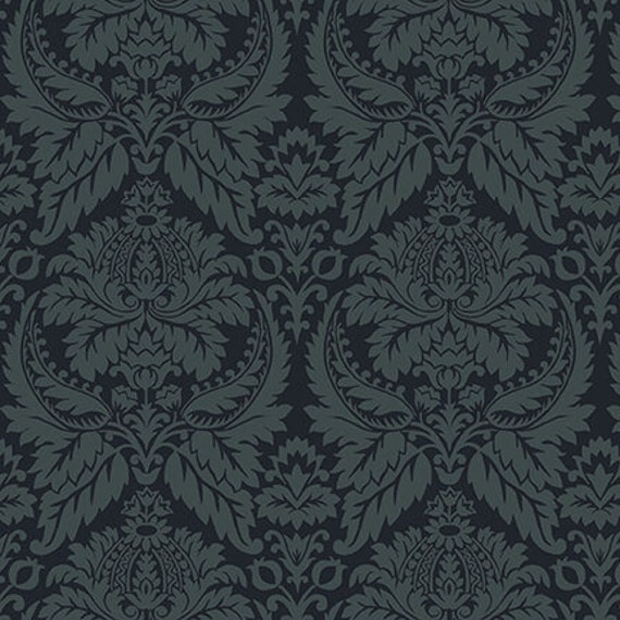 Parlor Fancies Navy Blue Kim Diehl Blush and Blue Quilt Fabric by the Yard 1956 77