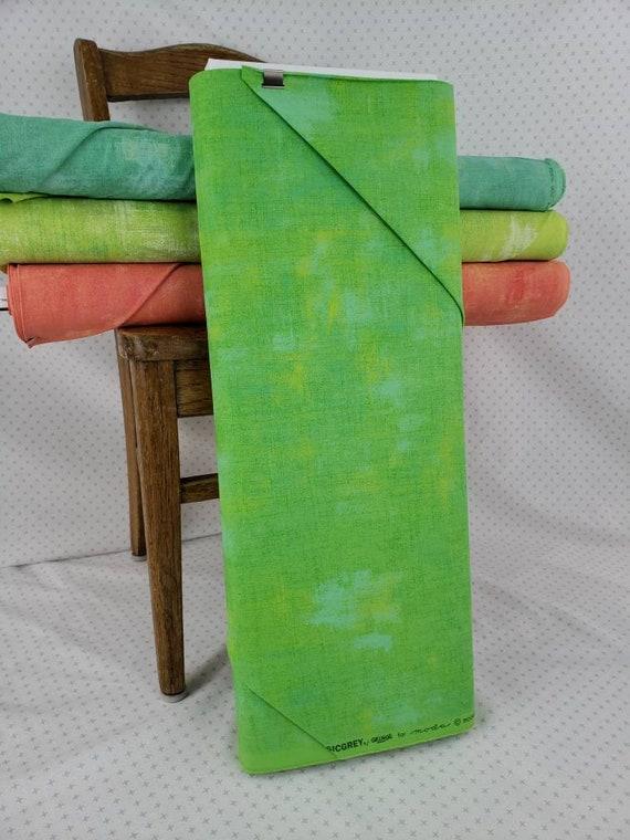 Kiwi Chartruese Grunge Basics, Modern Textured Light Green Tonal Blender, Moda Quilt Fabric by the Yard, 30150 304