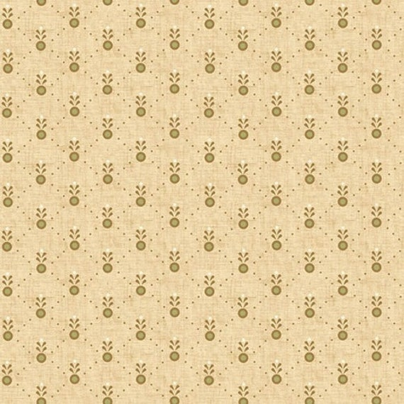 Kim Diehl Butter Churn Basics Beige Feathered Dots With Hint Of Green, Henry Glass Fabrics by the Yard 6289 44
