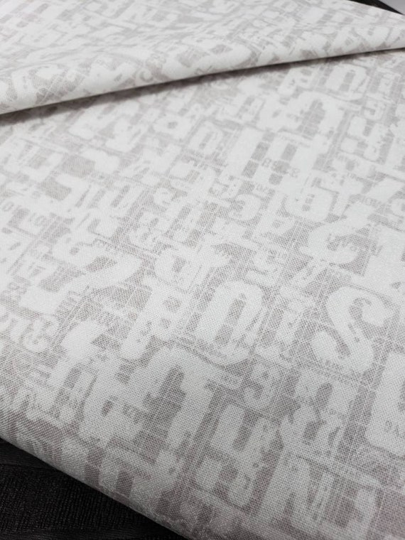 Compositions Basic Grey by Zen Chic Designer Brigitte Heitland Paper Fog Street Names, Moda Fabric by the Yard 30453 19