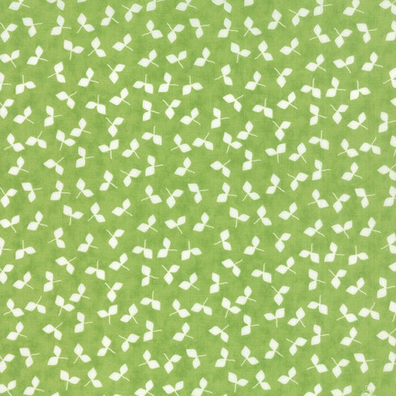 Corey Yoder Little Miss Shabby Spring Green Prairie Sprouts Quilt Fabric. Sprouts Are White  29004 17