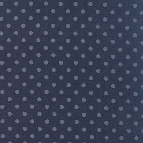 Snowbird Heather Medium Winter Blue, Cold Blue Dots, Laundry Basket Quilts For Moda Fabric By The Yard 42172 21