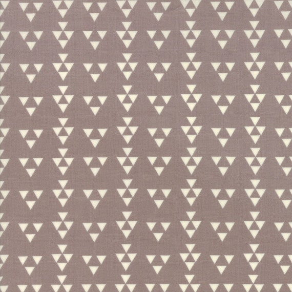 Desert Bloom Modern Design Triangles on Grey by Sherri and Chelsi For Moda Fabrics by The Yard 37524 13