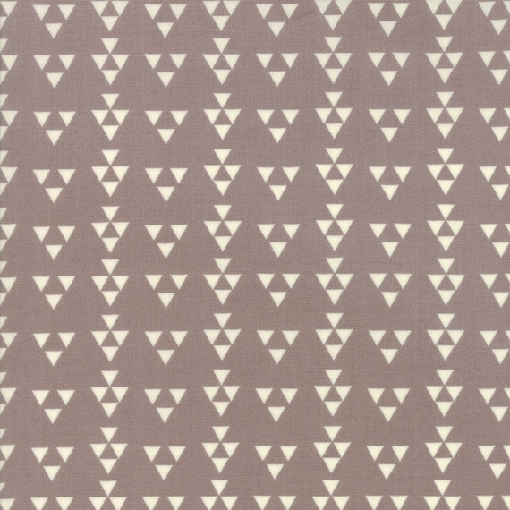 Desert Bloom Modern Design Triangles on Grey by Sherri and Chelsi For Moda Fabrics by The Yard 37523 15