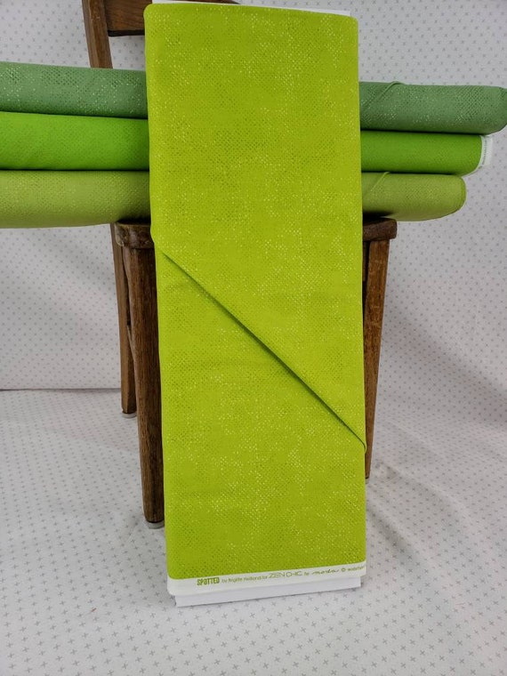 Limeage Lime Green Spotted Solid From Moda Fabrics, Fabric Designer Zen Chic, Textured Background Quilt Fabric by the Yard 1660 80