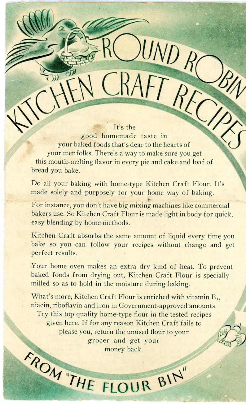 1945 Kitchen Craft Flour Recipe Booklet