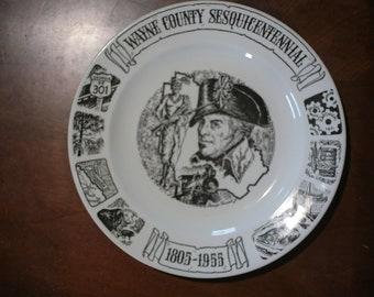 1955 Wayne County Georgia Sesquitennial Commemorative Plate