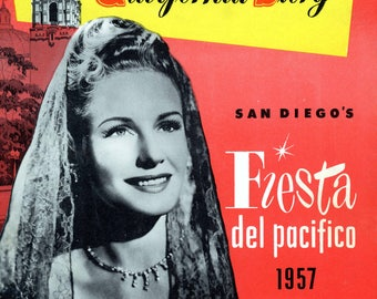 """1957 Program For The Fiesta Del Pacifico And The Play, """"The California Story"""""""