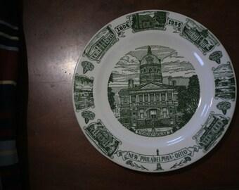1954 New Philadelphia, Ohio Sesquicentennial Commemorative Plate