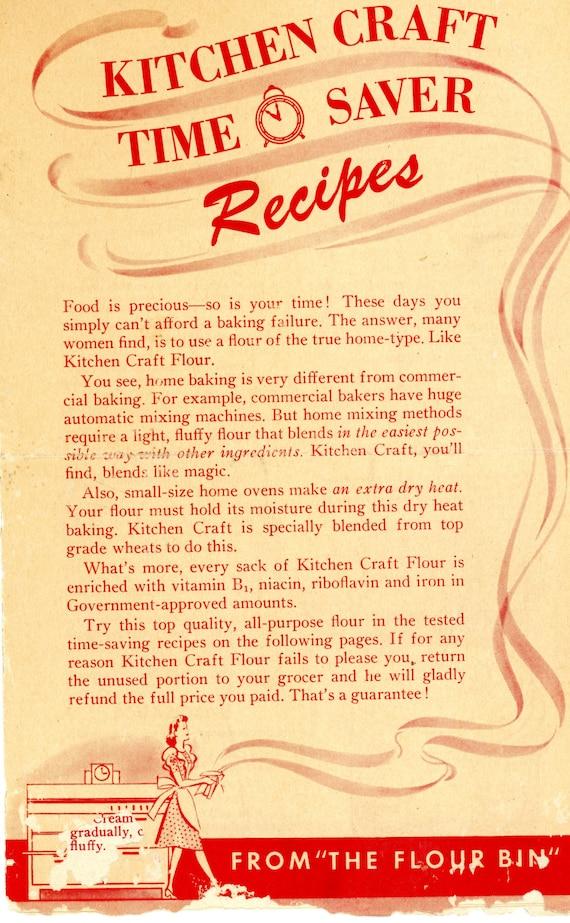 1944 Kitchen Craft Flour Recipe Booklet