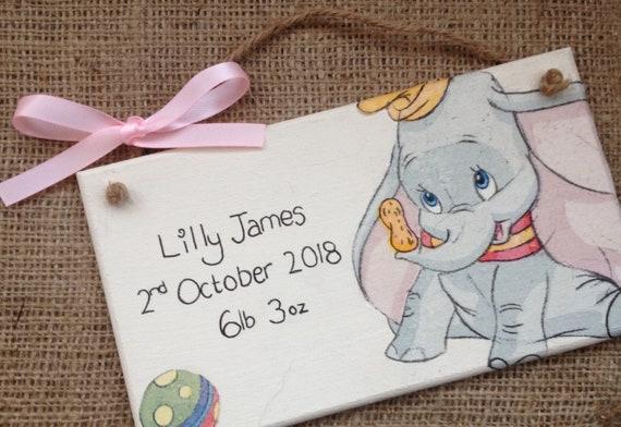 Beatrix Potter Hunca Munca Pintada a Mano Bebé Regalo De Placa De Puerta Personalizado de ratón