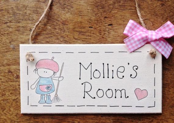 Personalised UNICORN Name Plaque Door Nursery Sign Gift Baby Play Room Girl ⭐
