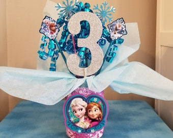 Frozen Birthday Party Princess Centerpiece Elsa And Anna Table Decoration Ice Queen