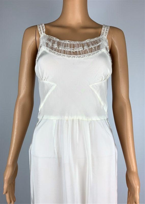 Vintage 1940's/40's Lace & Rayon Slip Dress - image 3