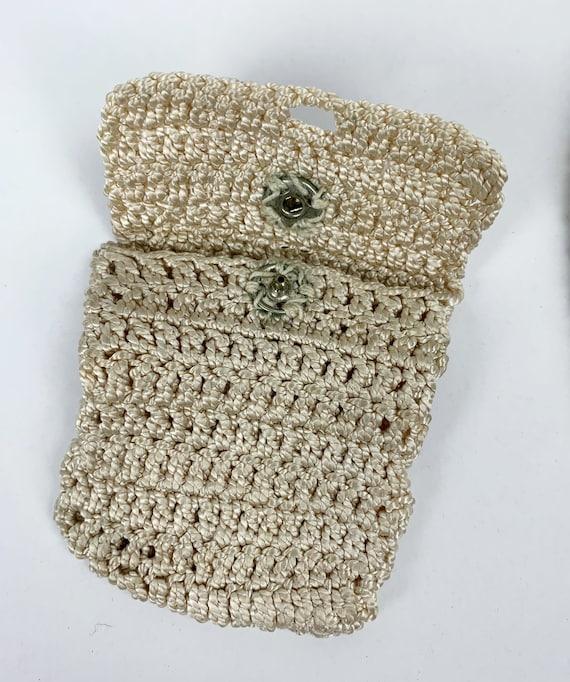 Vintage 1940s/30s Rayon Crochet/Knit Drawstring P… - image 4