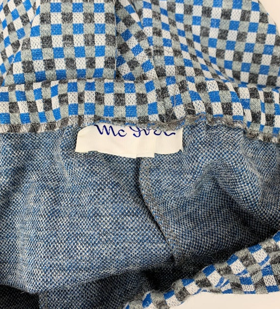 Vintage 1970s/70s Double Knit Checker Plaid Polye… - image 7