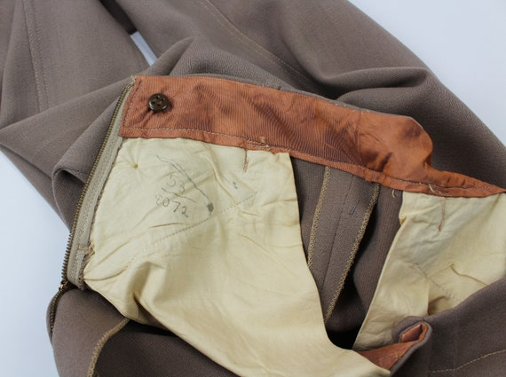 Vintage 1940s/40s High Waisted Wool Riding Pants - image 3