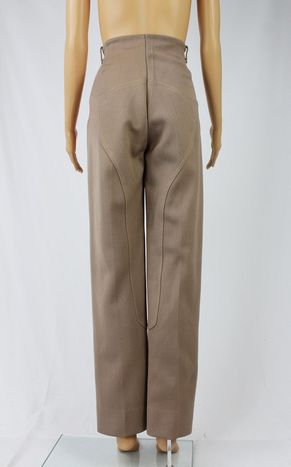 Vintage 1940s/40s High Waisted Wool Riding Pants - image 7