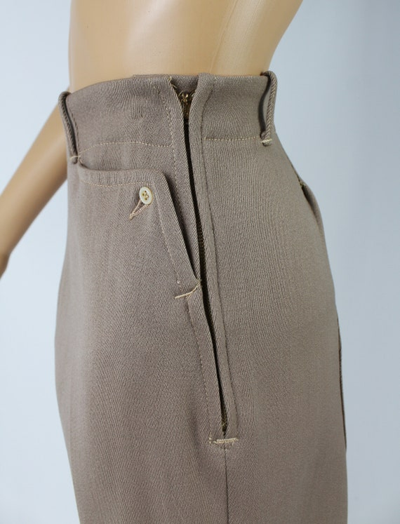 Vintage 1940s/40s High Waisted Wool Riding Pants - image 6