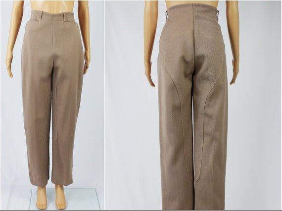 Vintage 1940s/40s High Waisted Wool Riding Pants