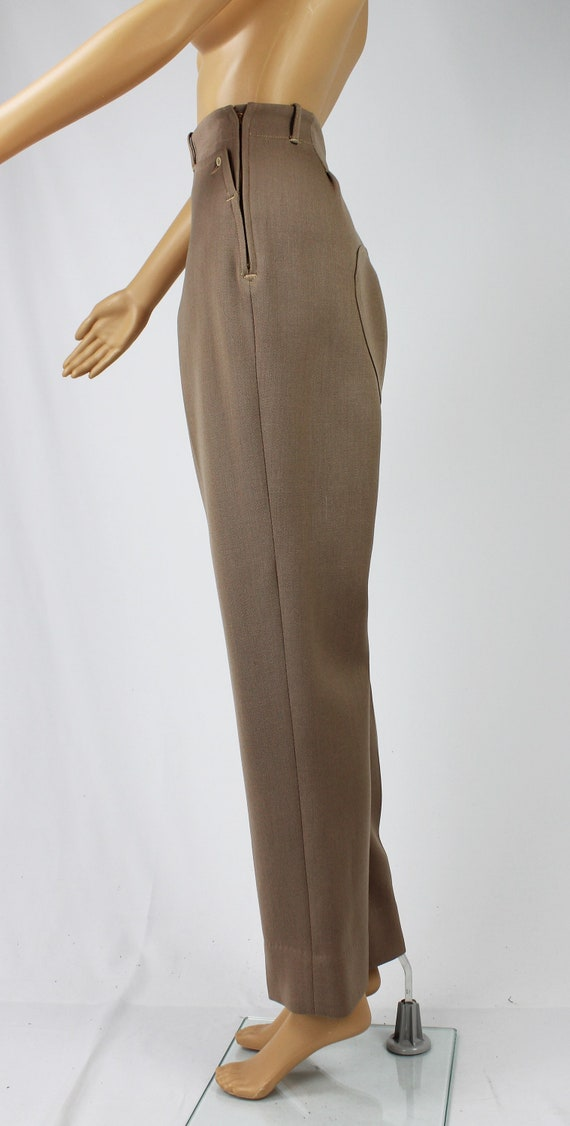 Vintage 1940s/40s High Waisted Wool Riding Pants - image 9