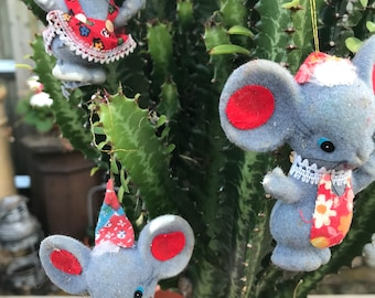 vintage mouse christmas tree decorations - 1950s Christmas Decorations