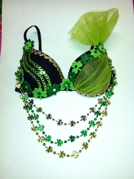 Edc Party Rave Lucky St Patricks Day Sexy Shamrock Green Etsy