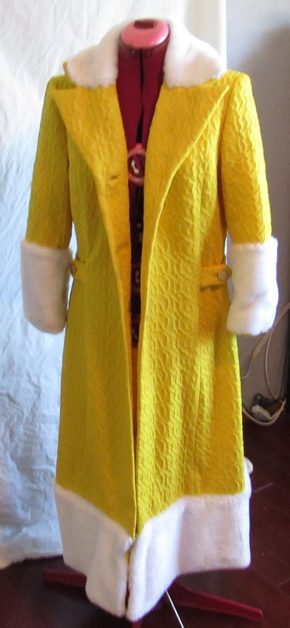 Edwardian Style Yellow Coat