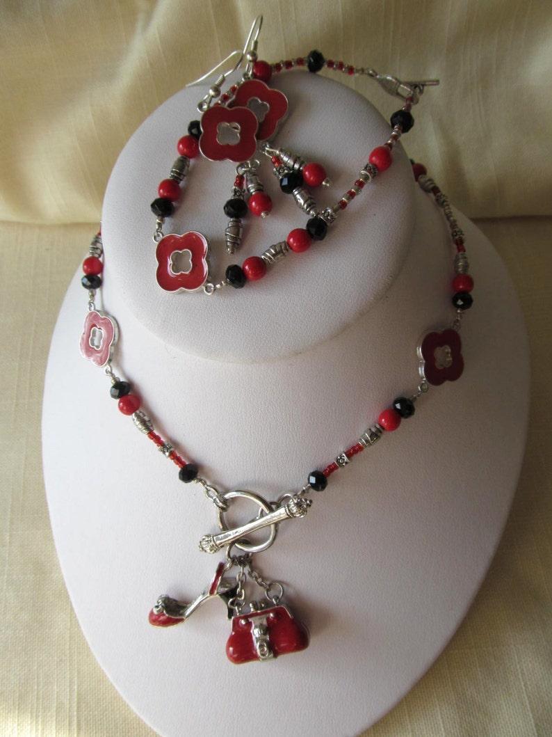 ed05675b15e5 Hecho a mano para usted 3 piezas damas joyería Set collar
