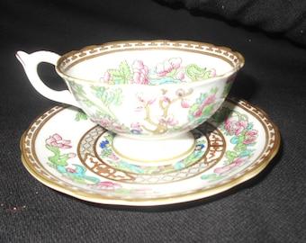 Coalport Indian Tree Semi Fluted Vintage Tea Cup and Saucer