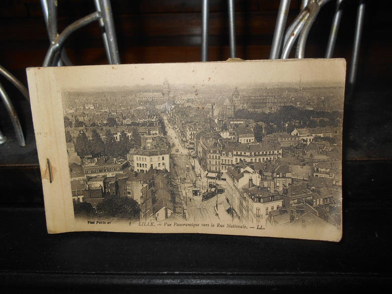 Black And White Postcard From >> 1920s Antique French Postcard Album With Black And White Etsy