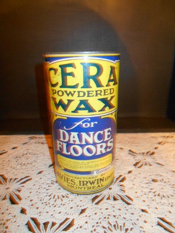 Antique Floor Wax Tin Etsy