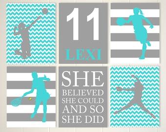 Softball Volleyball Girls Inspirational Art Motivational Etsy