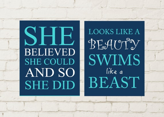 Inspirational Quotes For Girls Swimmer Quotes Girls Wall Etsy Inspiration Inspiring Quotes For Teens