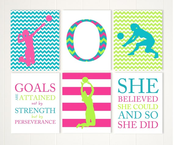 Volleyball Girl Art Volleyball Wall Art Volleyball Quotes Etsy Magnificent Inspirational Quotes For Teenage Girls