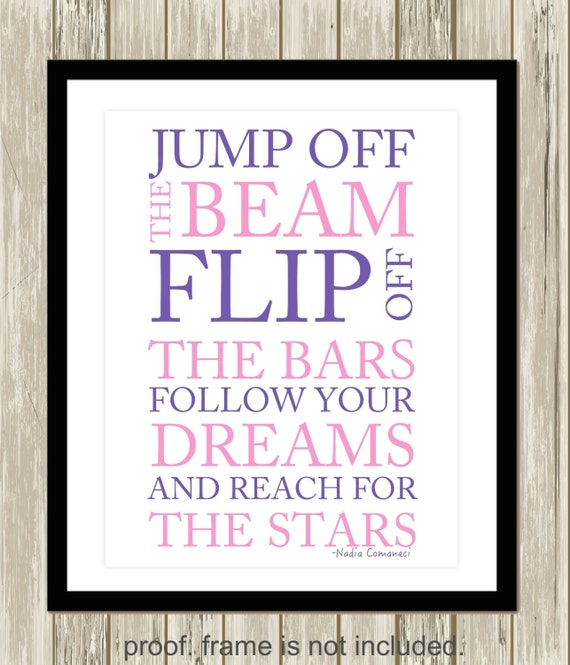 Gymnastics Quotes Wall Art Gymnastics Wall Art Inspirational Etsy Mesmerizing Quotes Wall Art